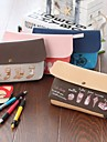 alta capacidad de dibujos animados lindo bolsas de papelería lienzo (x1pcs color al azar)