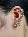 Ear Cuffs Alloy Rhinestone Simulated Diamond Leaf Jewelry Wedding Party Daily Casual Sports