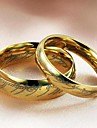 Gold Plating Scripture One Ring Couples Titanium Steel Ring Promis rings for couples