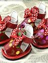 Caes Sapatos e Botas Vermelho / Preto / Beje Verao Pele PUCao Sapatos