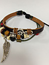 Z&X® Leather Bracelet Simply Multilayer Bracelet with Wing