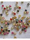 50pcs 4mm colorido perla metalica lipping decoraciones del arte del clavo