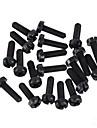zndiy-bry r203-310 m3 x 10 nylon plastique hexa pilier entretoise partisan - noir (20 pièces)
