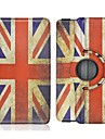 For Samsung Galaxy Case with Stand / Flip / 360° Rotation / Pattern Case Full Body Case Flag PU Leather Samsung Tab S 8.4