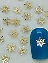200pcs forme de flocon de neige charme en métal doré décoration art tranche de l'ongle