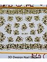 mais novo metal dourado da arte do prego manicure adesivos decoração para unhas diy