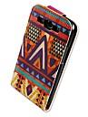 For Samsung Galaxy Case Flip / Pattern Case Full Body Case Geometric Pattern PU Leather Samsung S3