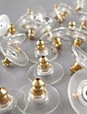 Metallic Gold Plated Earring Ear Plug (10 PC/OPP)
