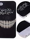caso difícil padrão cartoon dentes louco para iPhone 4 / 4S