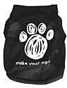 Cat / Dog Shirt / T-Shirt Black Dog Clothes Spring/Fall Cartoon