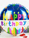 ronde heureuse ballon membrane douche de bébé de fête d'anniversaire d'anniversaire d'aluminium (couleur aléatoire)