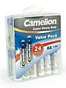 Camelion super-bateria aa pesados na caixa recipiente de 24 pcs