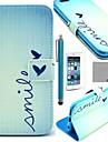 Коко fun® милой картины сердце PU кожаный чехол с экрана Protecter, стоять и стилус для iPhone 6 Plus
