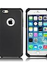 Для Кейс для iPhone 6 / Кейс для iPhone 6 Plus Защита от удара Кейс для Задняя крышка Кейс для Армированный Твердый СиликонiPhone 6s