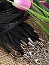 rubans cire corde noire (10pcs)