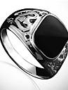 Lureme®Fashion Men's Black Stone Ring(Black)(1 Pc)