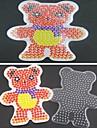 1шт шаблонов прозрачный бисер предохранителей Pegboard шарф медведь шаблон для 5мм Hama бисер DIY головоломки