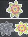 5mm 하마 비즈 퓨즈 구슬 1PCS 템플릿 명확 판 위의 꽃