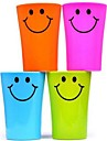Multi-function Smile Face Plastic Toothbrush Cup 360ML(Random Color)