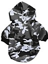 Cat / Dog Hoodie Black Dog Clothes Winter Camouflage