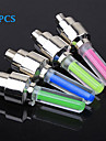 FJQXZ 4PCS Fluorescent Rod Type Cycling Tyre Wheel Neon Valve Lamp Including AG10 Button Battery