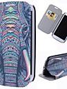 caso de corpo inteiro padrão cartoon elefante com suporte estojo de couro pu para Samsung Galaxy S3 i9300