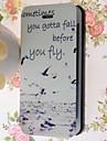 아이폰 5 / 5 초에 대한 카드 슬롯 특수 곡물 갈매기 패턴 PU 몸 전체 케이스