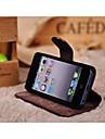 Для Кейс для iPhone 6 Кошелек / со стендом / Флип / Матовое Кейс для Чехол Кейс для Один цвет Твердый Натуральная кожа iPhone 6s/6