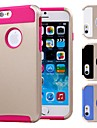 Double Shells Design Gold Back Hard Case with TPU Inside for iPhone6 (Assorted Colors)