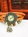Women\'s Bracelet Watch Quartz Leather Band Black White Blue Red Orange Brown Green Purple Yellow