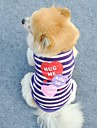 Cat / Dog Shirt / T-Shirt / Clothes/Clothing Pink / Purple Summer Stars / Hearts Wedding