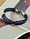 Homme Bracelets en cuir Cuir Original Mode Bijoux Bleu Bijoux 1pc