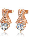 Roxi Fashion Delicate Genuine Austrian Crystal Champagne Zircon Alloy Stud Earring(1 Pair)