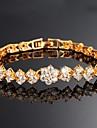 Beautiful 18 K Gold Plating Mosaic AAA Zircon Ms Gold Bracelet