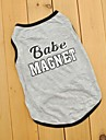 Cat / Dog Shirt / T-Shirt Gray Dog Clothes Summer Letter & Number Wedding / Cosplay