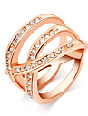 Fashion Austria Crystal Gold Plated Triangle Alloy Statement Rings(1 Pc)