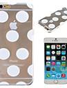 teste padrão dos balões branco capa dura pc transparente para iphone 6