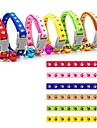 0.8cm Width Paw Sytles Fahion Nylon Collar for Cats and Small Dogs (assorted colours)