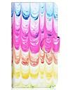 Para Samsung Galaxy Capinhas Porta-Cartao / Com Suporte / Flip / Estampada Capinha Corpo Inteiro Capinha Cores Gradiente Couro PU Samsung