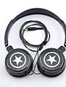 spc06 estrellas logo jack estereo de 3,5 mm para auriculares sobre el oido para mp3 / celulares / pc