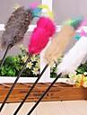Игрушка для котов Игрушки для животных Дразнилки Игрушка с перьями Стик Текстиль
