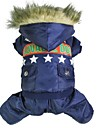Dog / Cat Coat Red / Blue Winter Police/Military