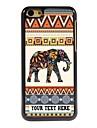 caso de telefone personalizado - elefante caso design de metal para iphone 5c
