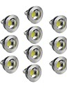 5W GU5.3(MR16) Spot LED 1 COB 400-450 lm Blanc Chaud / Blanc Froid / Blanc Naturel Gradable DC 12 V 10 pieces