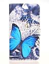 motif bleu butterly etui en cuir PU avec support et une carte slot pour Huawei Ascend g7