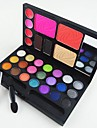 4in1 Makeup Cosmetic Palette with Mirror&Applicator Brush Set B(3 Blusher&2 Eyebrow Powder&4 Lip Gloss&21 EyeShadow)