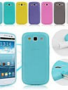 TPU Soft Case with Dust Plug for Samsung Galaxy S3 I9300