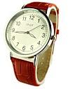 Women\'s Casual Watch Quartz PU Band Flower Black Red Brown Strap Watch