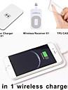 Qi trådløse oplader pad + trådløs modtager adapter + TPU blød klart tilfælde sæt til iPhone 6 4,7 tommer
