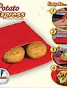 neuf de haute qualite pratique poche de vapeur facile de sac de micro-ondes lavable rouge de pomme de terre rapide de pomme de terre cuire au 4